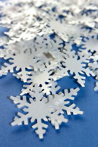 """Confetti 1"""" Paper White Snowflake Wedding Birthday Party Decor"""