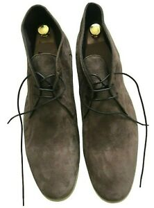 """Paul Smith Mens Boots """"PS"""" Brown Suede Leather Size 11 / 45"""