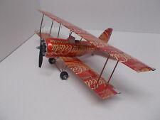 Aluminum soda can handcrafted airplane/COKE-VANILLA (BI-PLANE)