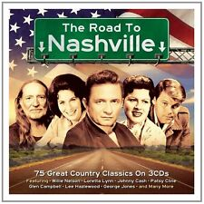 The Road To Nashville 3 Cd 75 Country Classics Glen Campell Willie Nelson + more