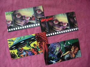 Mars Attacks! X2 Destructo-Rama Chase cards & 2 promos Topps Widevision 1996 VFN