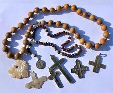 GROUP OF ANTIQUE VINTAGE RELIGIOUS ICONS CROSSES ETC - ESTATE SALE