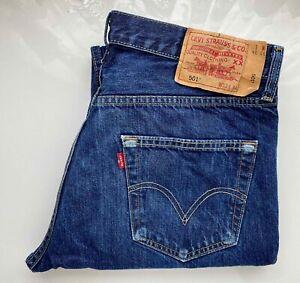 #Vintage# LEVI's Original Jeans Hose Denim 501 W33 L34 blau Klassiker Mode!