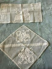 Two Beautiful Vintage Handmade Filet Lace Doilies