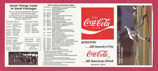 Kinston Indians 1993 Schedule Carolina League Minors – Embree – unfolded
