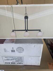 Hampton Bay Mattock 3-light Oil Rubbed Bronze Island Light (New Open Box)
