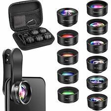 Phone Camera Lens, OYRGCIK 5 in 1 Phone Lens Kit 12X Zoom Telephoto Lens with Te