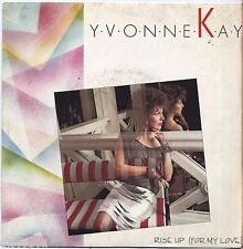 "YVONNE KAY - Rise up - VINYL 7"" 45 LP ITALY 1985 NEAR  MINT COVER VG CONDITION"
