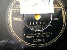 """78 giri """"SEMPRINI E ORCH.RITMO SINFONICA  """" BLUES - FLAMENCO """"  FONIT 13959 VG+"""