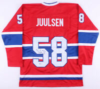 Noah Juulsen Signed Montreal Canadiens Hockey Jersey (Beckett COA) Autographed