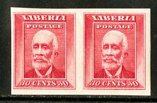 Liberia Stamps # 122 SUPERB OG NH Imperf Pair