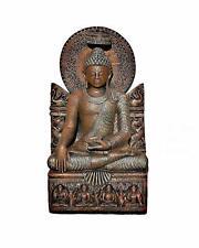 Sitzender Thai Buddha Bronze Optik Garten Buddha Statue Feng Shui Höhe: 96cm