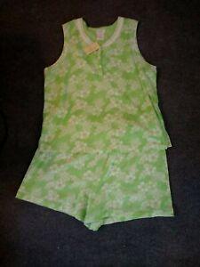 Secret Treasures Summer Short Pajamas Brand New Women's sz 2X lime green floral