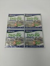 Lot of 4 Memorex Mini DVD-RW 1.4GB 30 min Single Sided For Camcorder or PC