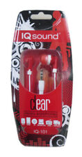 Supersonic IQ101 RED IQSound Clear Digital Earbuds - NEW