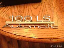 Vintage Audi 100 LS Automatic Fender Emblem, Metal,