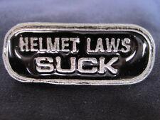Motorcycle Biker Helmet Tie Tac Pin - Black / Silver - Jewelry - Laws NEW