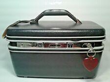 Vintage Samsonite Make-Up/Carry-on Case with Key/Tray/Mirror Dark Blue