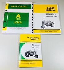 Service Parts Operators Manual Set For John Deere A Ao Ah An Ar Aw Tractor Book