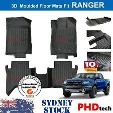 3D TPE All Weathe Floor Mats Liner fit Ford Ranger PX PX2 PX3 Dual Cab Wildtrak