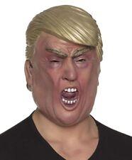 Adults Super Boss President Donald Trump Latex Face Mask Fancy Dress Accessory