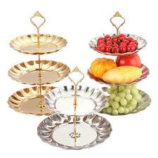 Cupcake Stand Aluminum Round Wedding Birthday Cake/Fruit Display Tower 2/3 Stand