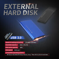 "2.5"" External 1TB Hard Disk Drive USB 3.0 Data Transfer HDD Ultra Slim Portable"