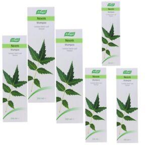 6x A.Vogel Neem Leaf Soothing Shampoo 200ml Tincture Fresh Scalp Lice Nits