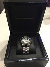 Newton & Sons Sportster Armbanduhr Herrenuhr Uhr mit Uhrenbox Schwarz Hochglanz