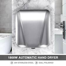 Electric Hand Dryer Machine W.Automatic Touchless Tech 1800W Stainless Steel