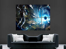 ASTRONAUT BLACK HOLE VORTEX EARTH SPACE ART WALL LARGE IMAGE GIANT POSTER