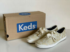 NEW! KEDS CHAMPION SWIRLY PAISLEY PRINT GOLD CASUAL SHOES SNEAKERS 8 38 SALE