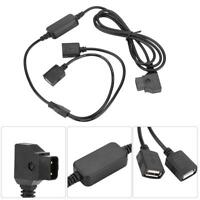 D-Tap B port to 5V Dual USB Power Cable for Camera Anton V-mount Battery Charger