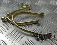 Genuine Vintage Military Issue Officers Cavalry Type Parade Buckle Spurs - NEW