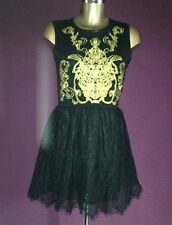 NEW BLACK EVENING PARTY DRESS 3 LAYER SKIRT SISSY DRESS TV SIZE MED LARGE