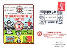 2 NOVEMBRE 1977 Manchester United 5 Porto 2 Copertura COMMEMORATIVE (A)