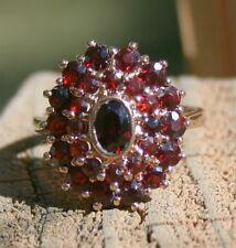 Garnet Ring, Marked 925 Size 7 3/4