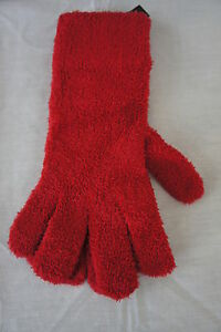 Isotoner Gloves One Size Bright Red Soft Casual Winter Outer Wear