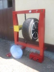 TYRE PRESSURE TESTING MACHINE - THE ORIGINAL ONE Reifenprüfmaschine