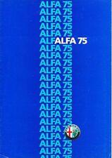 Alfa Romeo - 75  - Prospekt - Deutsch - D 862 - 025