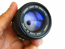 Canon FD 50mm f/1.4 35mm Manual Focus Lens VERY CLEAN