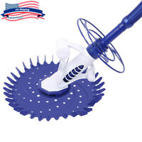Swimming Pool Automatic Cleaner Inground Above Ground Clean Vacuum w/ 33FT Hose