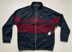 Supra Track Jacket Full Zip Men Adult Medium Blue Maroon Red 102169 490 NWT $90