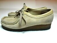 Clarks Originals Wallabee 35395 Womens Sand Suede Crepe Soles Desert Shoes 7 M