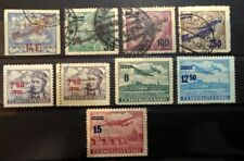 Czechoslovakia 1920-49, Nice Lot of 7 Air Post Stamps