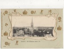 Norwich The Cathedral From SW [Tuck 709 III] Vintage U/B Postcard 827a