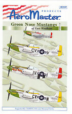 AeroMaster Green Nose Mustangs 1/48 Decals for Monogram Revell  Part IV 48-641
