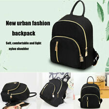 Fashion Small Waterproof Nylon Women Black Backpack Girls Shoulder Back Bag
