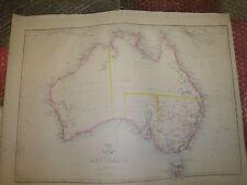 Australia Circa 1863 Weekly Dispatch Atlas E.Weller 31x43 cm vintageFramed20more