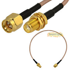 RF Nice Coaxial Jumper Pigitail Cable RG316 SMA Male to Female Nut Bulkhead